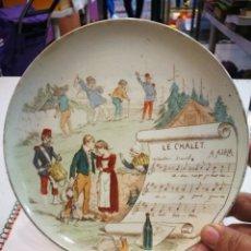 Antigüedades: PLATO TERRE DE FER SERIE MUSICAL EN GENERAL BUENA CONDICIÓN.LAS FOTOGRAFÍAS DESCRIBEN SU ESTADO.RARO. Lote 155452786