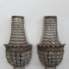 Antigüedades: ANTIGUA PAREJA DE LAMPARAS PARA COLGAR DE ENTRADA O PASILLO.. Lote 155453100