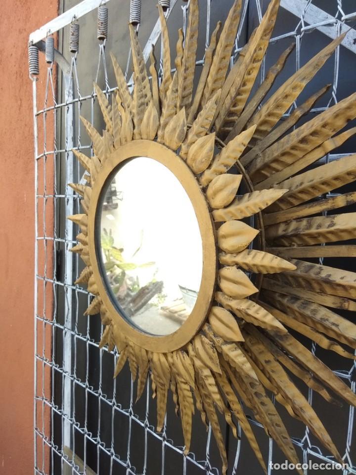 ESPEJO SOL GRAN TAMAÑO (Antigüedades - Muebles Antiguos - Espejos Antiguos)