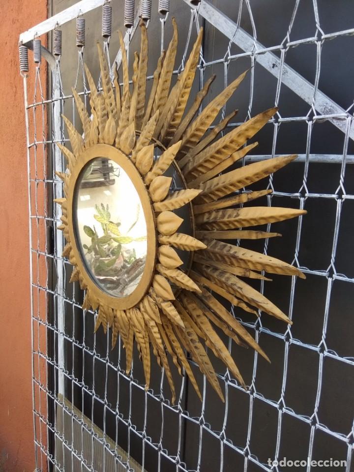Antigüedades: Espejo sol gran tamaño - Foto 2 - 155462894
