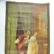 Antigüedades: EXCELENTE ANTIGUO TAPIZ DE PARED BONITOS DETALLES PPIEZA DE DECORACION. Lote 155467258
