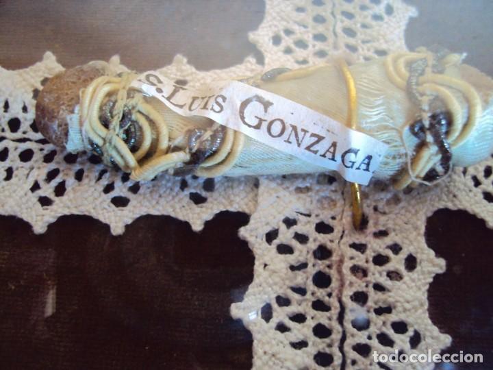Antigüedades: (ANT-190347)RELICARIO GRANDES DIMENSIONES S.LUIS GONZAGA - MADERA Y CRISTAL OVALADO - Foto 3 - 155467994