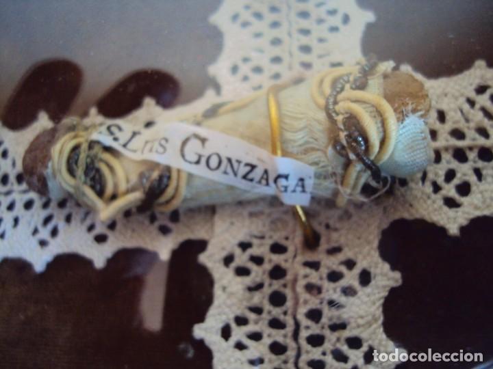 Antigüedades: (ANT-190347)RELICARIO GRANDES DIMENSIONES S.LUIS GONZAGA - MADERA Y CRISTAL OVALADO - Foto 6 - 155467994
