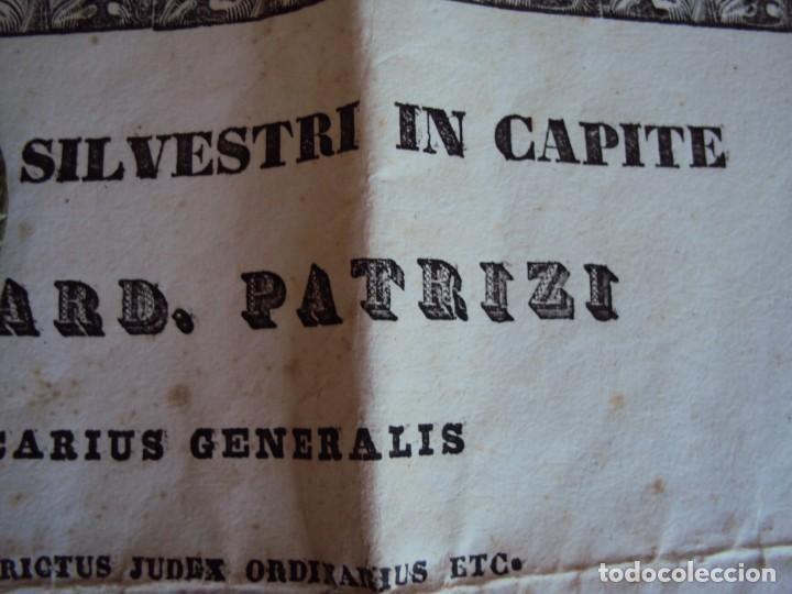 Antigüedades: (ANT-190351)RELICARIO Y CERTIFICADO DE S.SILVESTRE AÑO 1844 - Foto 3 - 155468434