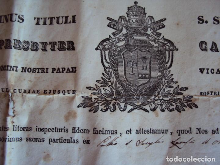 Antigüedades: (ANT-190351)RELICARIO Y CERTIFICADO DE S.SILVESTRE AÑO 1844 - Foto 10 - 155468434