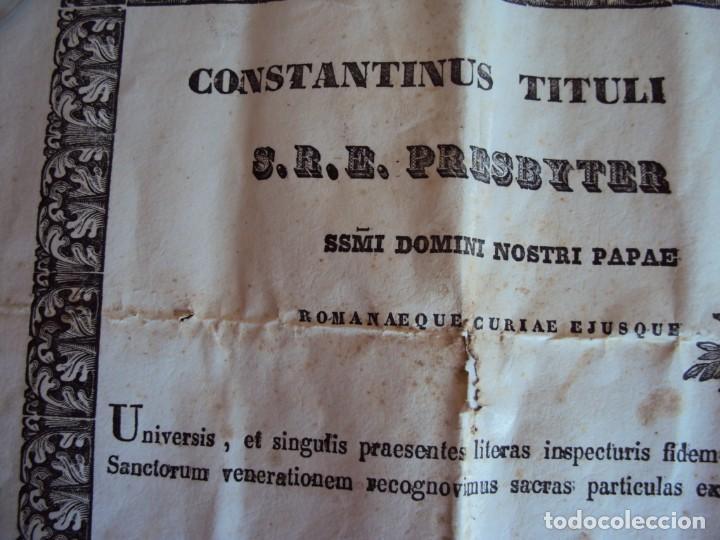 Antigüedades: (ANT-190351)RELICARIO Y CERTIFICADO DE S.SILVESTRE AÑO 1844 - Foto 11 - 155468434