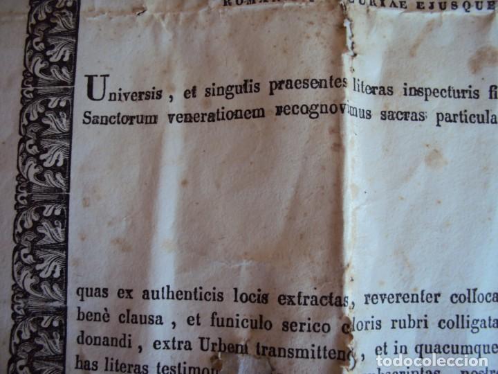 Antigüedades: (ANT-190351)RELICARIO Y CERTIFICADO DE S.SILVESTRE AÑO 1844 - Foto 12 - 155468434