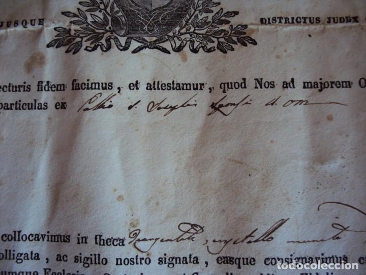 Antigüedades: (ANT-190351)RELICARIO Y CERTIFICADO DE S.SILVESTRE AÑO 1844 - Foto 13 - 155468434