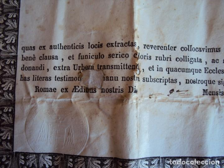 Antigüedades: (ANT-190351)RELICARIO Y CERTIFICADO DE S.SILVESTRE AÑO 1844 - Foto 14 - 155468434