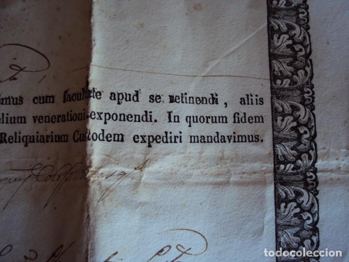 Antigüedades: (ANT-190351)RELICARIO Y CERTIFICADO DE S.SILVESTRE AÑO 1844 - Foto 16 - 155468434