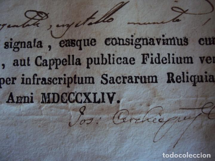 Antigüedades: (ANT-190351)RELICARIO Y CERTIFICADO DE S.SILVESTRE AÑO 1844 - Foto 17 - 155468434