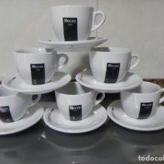 Antigüedades: JUEGO DE 6 TAZAS Y 6 PLATOS CAFE MOCAY, CAFE CON LECHE O DESAYUNO . Lote 155484634