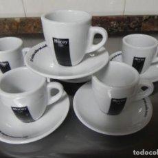 Antigüedades: JUEGO DE 6 TAZAS Y 6 PLATOS CAFE MOCAY, CAFE CORTADO O CON LECHE. Lote 155484830