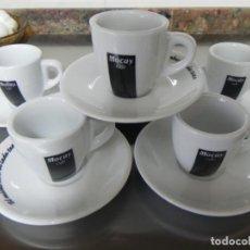 Antigüedades: JUEGO DE 6 TAZAS Y 6 PLATOS CAFE MOCAY, CAFE SOLO. Lote 155485130