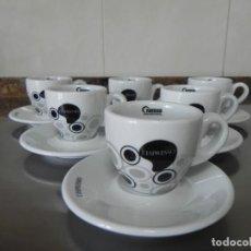 Antigüedades: JUEGO DE 6 TAZAS Y 6 PLATOS L`ESPRESSO - CAFE SOLO - NESTLE -. Lote 155485750