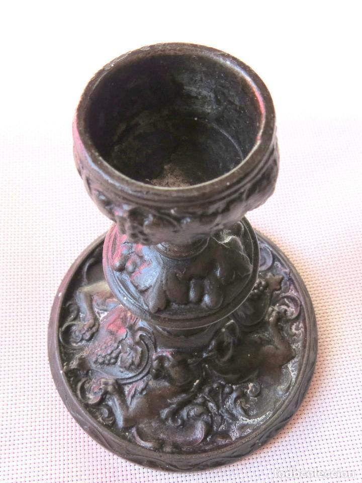 Antigüedades: CANDELABRO DE FUNDICION HANAU ALEMANIA 1890-1899 - Foto 10 - 155490302