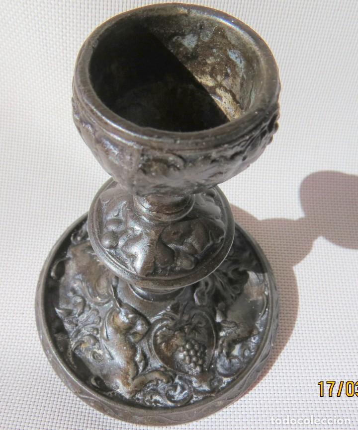 Antigüedades: CANDELABRO DE FUNDICION HANAU ALEMANIA 1890-1899 - Foto 18 - 155490302