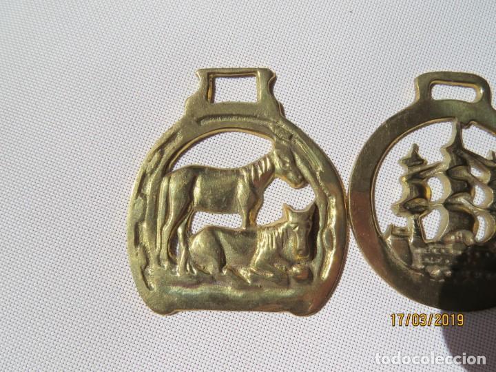 Antigüedades: TRES ADORNOS PARA CABALLOS, ARREOS - Foto 2 - 155492786