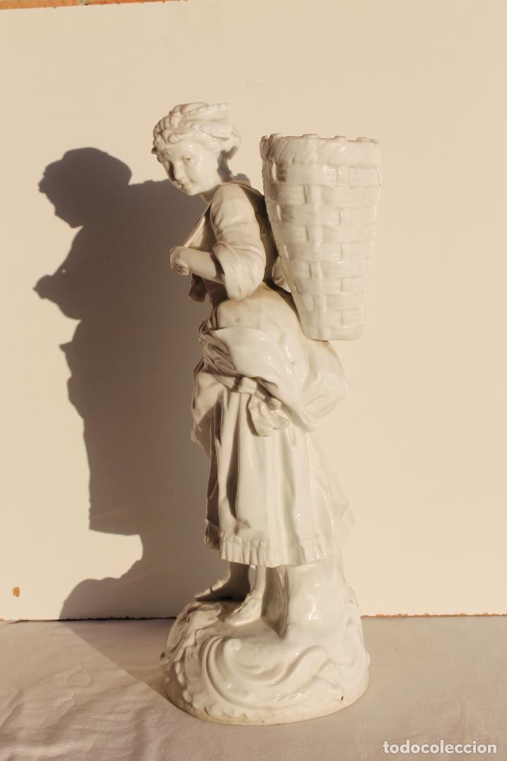 Antigüedades: FIGURA DE PORCELANA ALEMANA WALLENDORF SIGLO XVIII - Foto 4 - 155495030