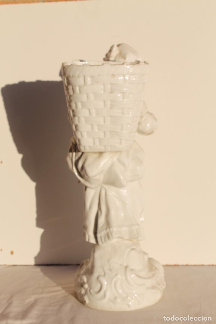 Antigüedades: FIGURA DE PORCELANA ALEMANA WALLENDORF SIGLO XVIII - Foto 5 - 155495030