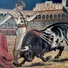 Antigüedades: ANTIGUO TAPIZ TAURINO EN EXCELENTES CONDICIONES. GRAN TAMAÑO. Lote 155497430
