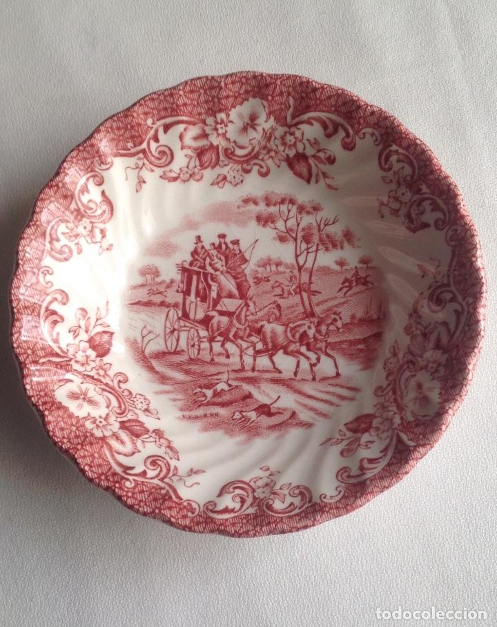 PLATO PORCELANA INGLESA COACHING SCENES JONSON BROS IRONSTONE H. COUNTRY (Antigüedades - Porcelanas y Cerámicas - Inglesa, Bristol y Otros)