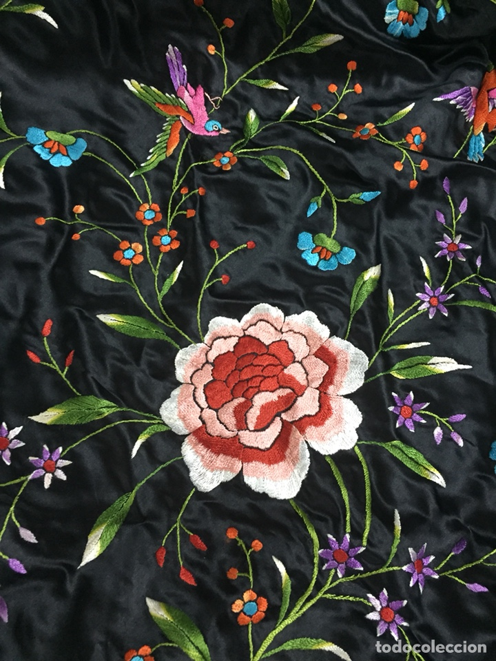Antigüedades: Mantón de manila. - Foto 3 - 155507672