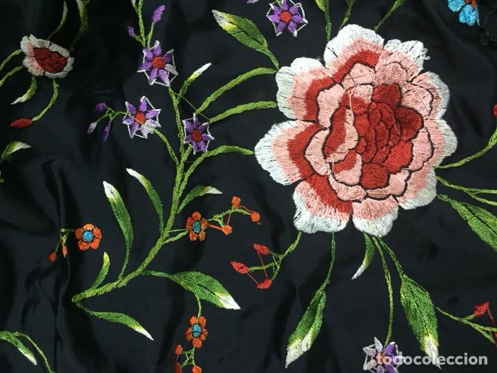 Antigüedades: Mantón de manila. - Foto 4 - 155507672