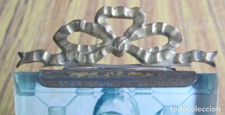 Antigüedades: PORTARRETRATO de latón - El cristal biselado - BTE SGUG PARIS - Foto 4 - 155512166