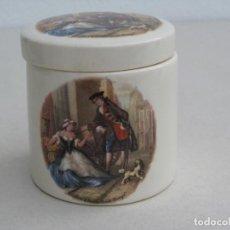 Antigüedades: BOTE O TARRO DE PORCELANA SANDLAND WARE. 9X8,5CM. Lote 155512766