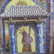 Antigüedades: RETABLO CERAMICO AZULEJOS GRAN PODER. Lote 155521454