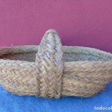 Antigüedades: CESTA DE ESPARTO .. Lote 155521846