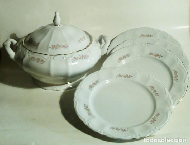 SOPERA 4 PLATOS ITALIANA (Antigüedades - Porcelanas y Cerámicas - Otras)