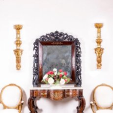 Antigüedades: CONSOLA ANTIGUA CON ESPEJO. Lote 155589722