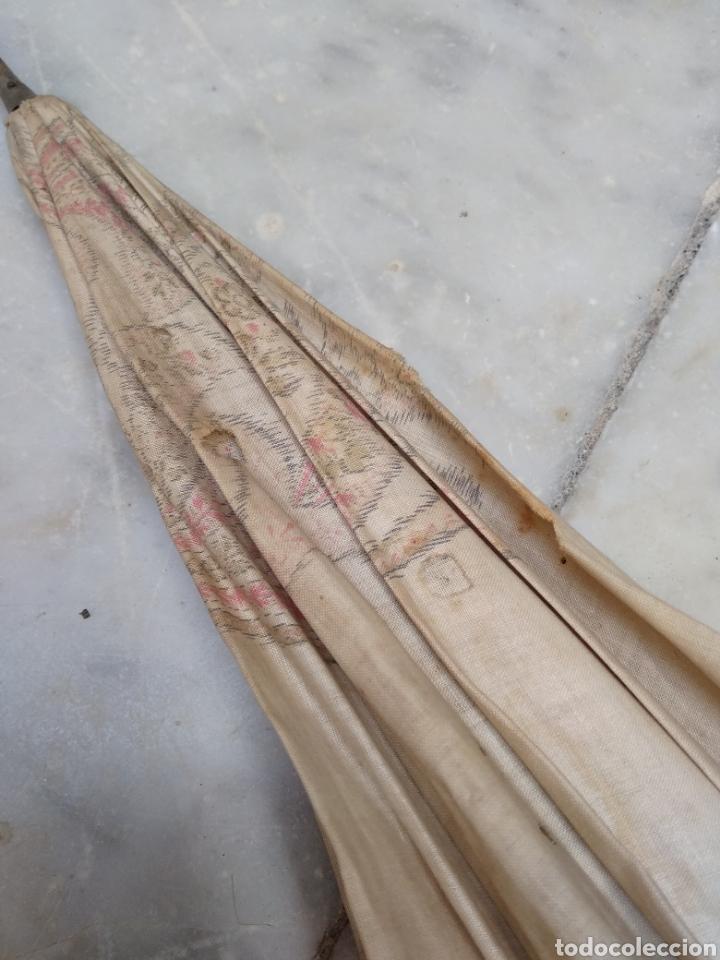 Antigüedades: Sombrilla seda señora siglo XIX - Foto 3 - 155590188