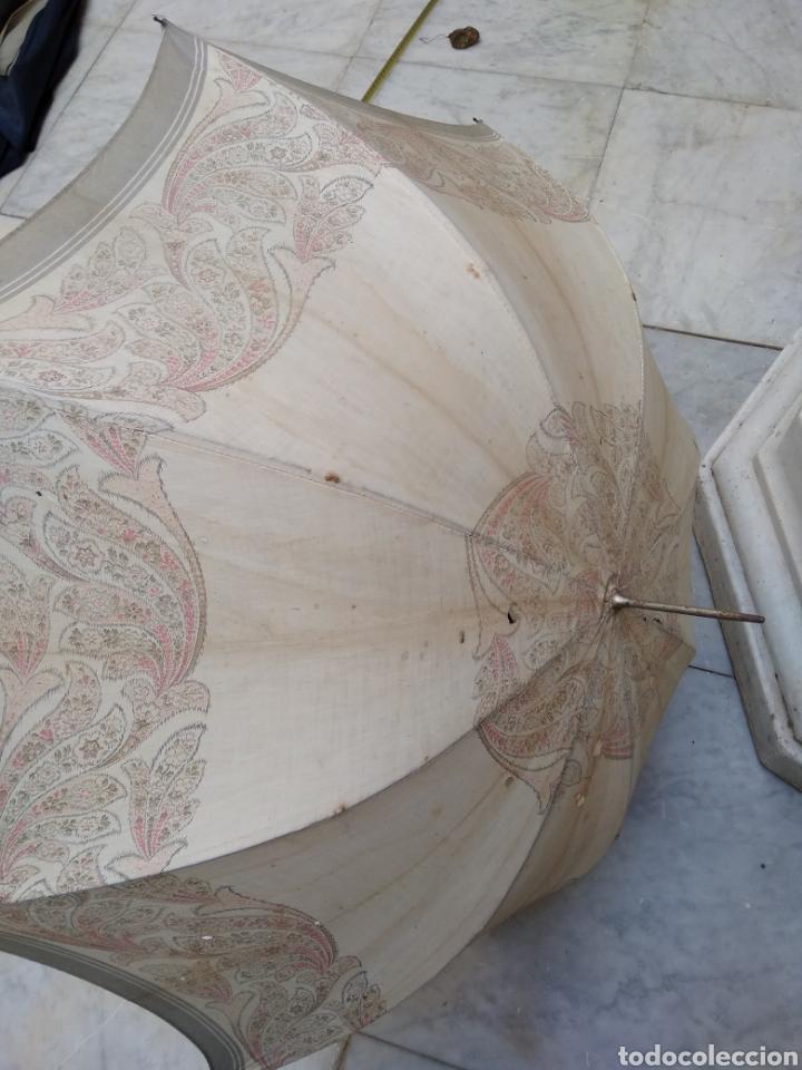 Antigüedades: Sombrilla seda señora siglo XIX - Foto 4 - 155590188