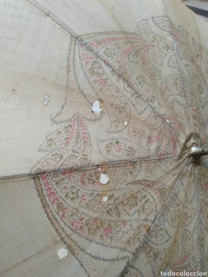 Antigüedades: Sombrilla seda señora siglo XIX - Foto 5 - 155590188