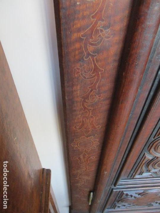 Antigüedades: Armario Empotrado - Barroco Catalán - Madera de Nogal - Puertas con Marquetería en 2 Caras -S. XVIII - Foto 9 - 155594662