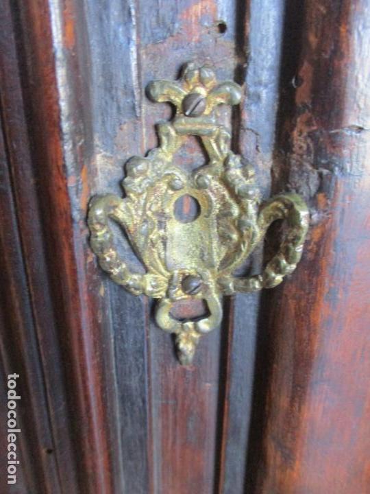 Antigüedades: Armario Empotrado - Barroco Catalán - Madera de Nogal - Puertas con Marquetería en 2 Caras -S. XVIII - Foto 16 - 155594662