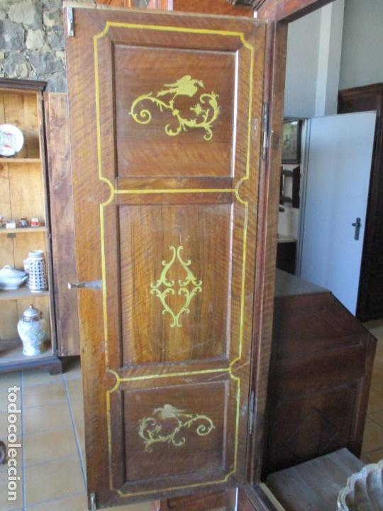 Antigüedades: Armario Empotrado - Barroco Catalán - Madera de Nogal - Puertas con Marquetería en 2 Caras -S. XVIII - Foto 18 - 155594662