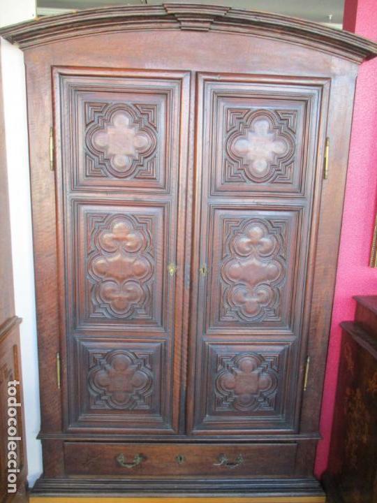 Antigüedades: Armario Empotrado - Barroco Catalán - Madera de Nogal - Puertas con Marquetería en 2 Caras -S. XVIII - Foto 27 - 155594662