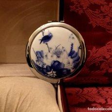 Antigüedades: ESPEJO DE BOLSO DOBLE DE PORCELANA CHINA.. Lote 155594982