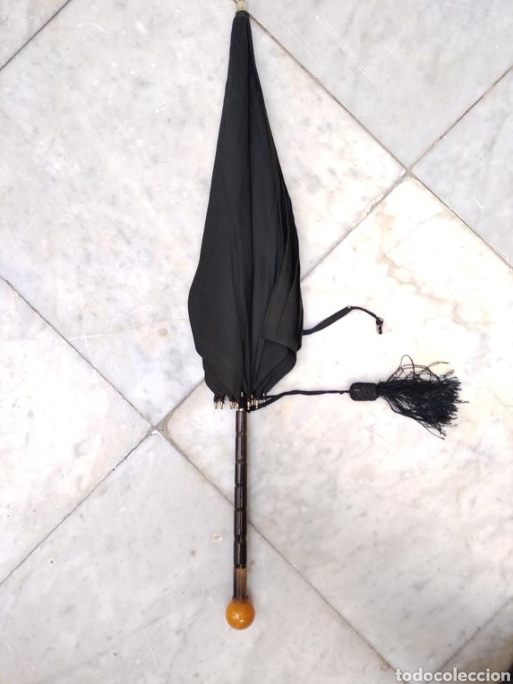 SOMBRILLA SEDA SIGLO XIX (Antigüedades - Moda y Complementos - Mujer)