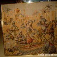 Antigüedades: TAPIZ ANTIGUO, ODALISCA BAILANDO, TEMA ORIENTALISTA. Lote 155609738