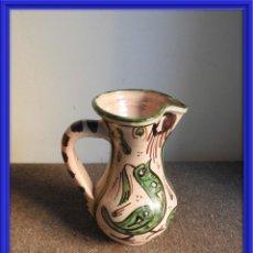 Antigüedades: JARRA DE CERAMICA VIDRIADA DE TERUEL FIRMADA PUNTER. Lote 155610662