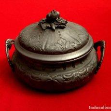 Antigüedades: GRAN SOPERA DE ESTAÑO DE ORIGEN ALEMÁN.. Lote 155612586