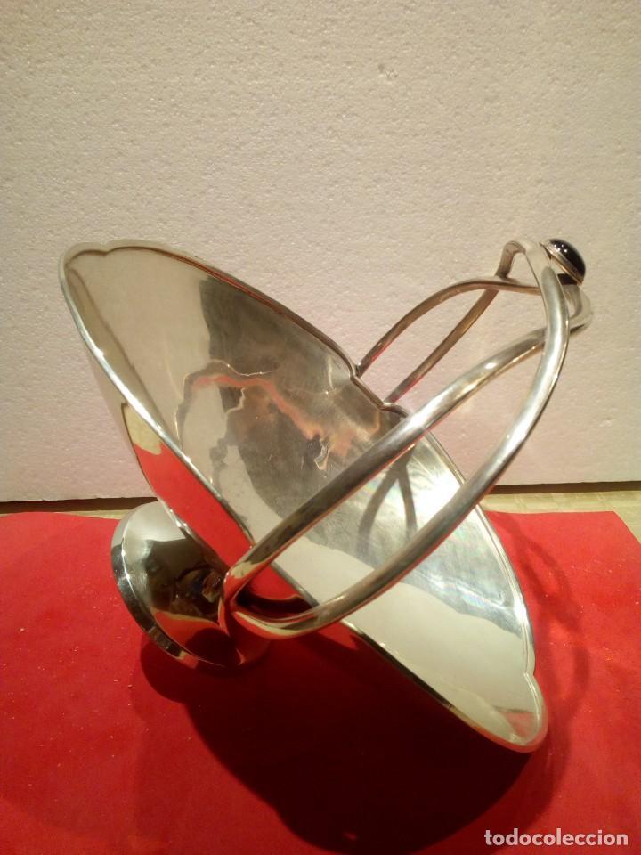 Antigüedades: Centro de mesa en plata de ley punzonada platero José Amor - Foto 2 - 155614350