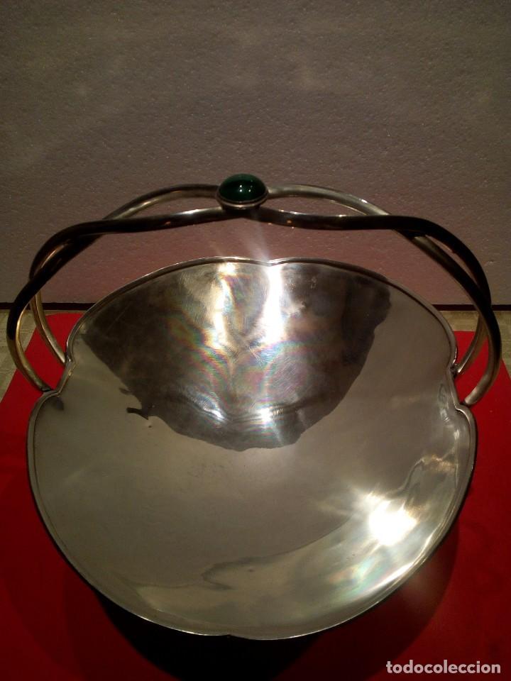 Antigüedades: Centro de mesa en plata de ley punzonada platero José Amor - Foto 3 - 155614350