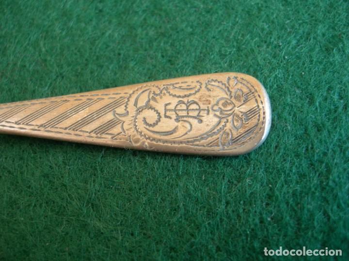Antigüedades: Taza de plata con plato y cuchara - Foto 4 - 155630942