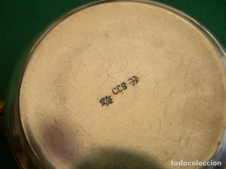 Antigüedades: Taza de plata con plato y cuchara - Foto 7 - 155630942